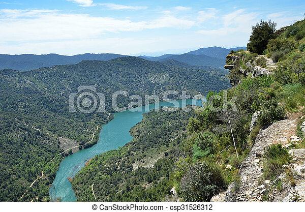 Siurana's surroundings in the Prades mountains - csp31526312