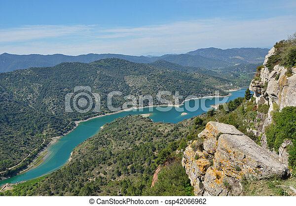 Siurana's surroundings in the Prades mountains - csp42066962