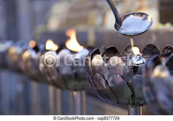 Siver lotus lamp on Doi suthep - csp8377724