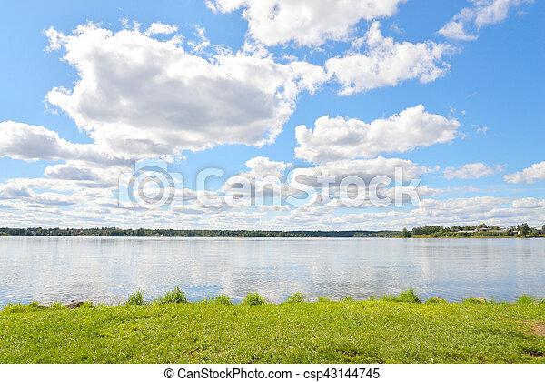 Siverskoe lake at summer. - csp43144745