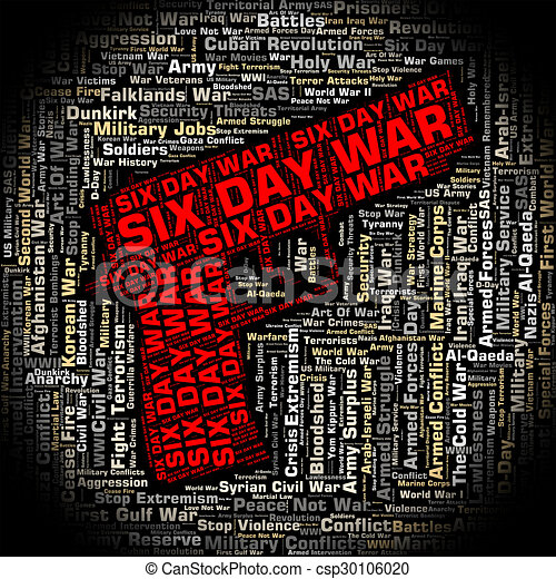 Six Day War Indicates Arab Israeli And Egypt Csp30106020