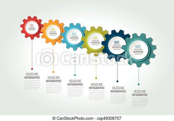 6 part arrow wheel diagram 6 parts arrow wheel diagram vectors six elements chart scheme diagram timeline 6 infographic template ccuart Images