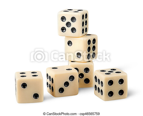 Six gaming dice - csp46565759