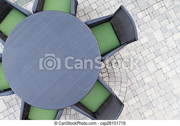 Six seater outdoor patio set - csp28101719