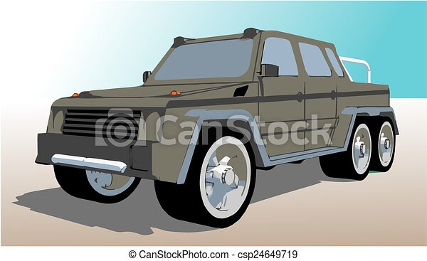 Six wheels off road truck - csp24649719