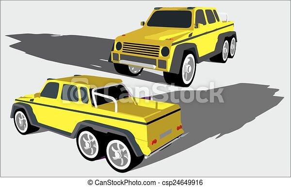 Six wheels off road truck - csp24649916