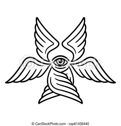 Six winged Seraphim
