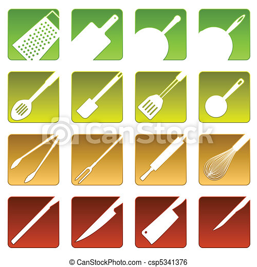 Sixteen cooking icons - csp5341376