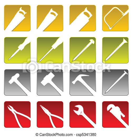 Sixteen tool icons - csp5341380