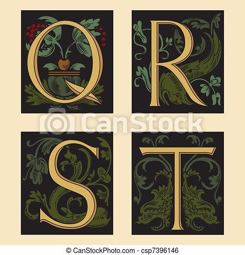 Sixteenth-Century alphabet - csp7396146