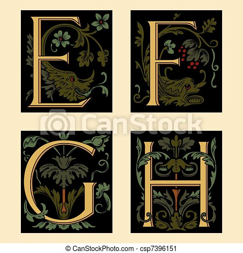 Sixteenth-Century alphabet - csp7396151