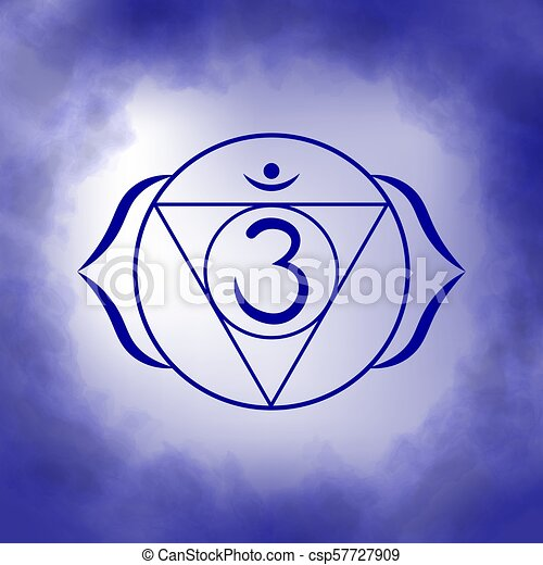 Sixth Third Eye Chakra Ajna Illustration Of One Of The Seven