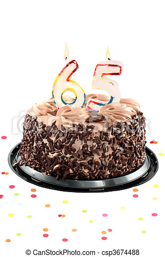 Sixty fifth birthday or anniversary - csp3674488