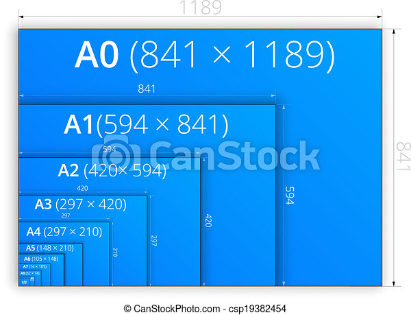 Size of format a paper sheets size of blueprint style series a size of format a paper sheets csp19382454 malvernweather Image collections