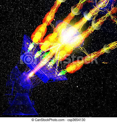 skål, sky, stjärna, satelite - csp3654130