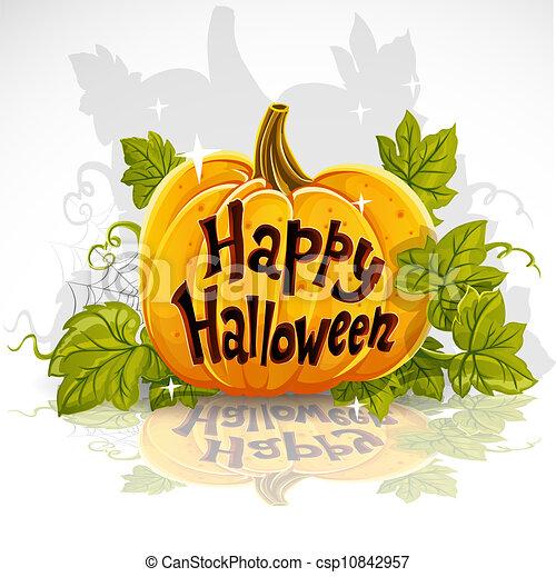 skære, pumpkin halloween, glade, ydre - csp10842957