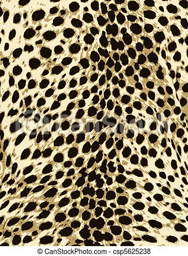 skóra, fason, druk, lampart, zwierzę - csp5625238