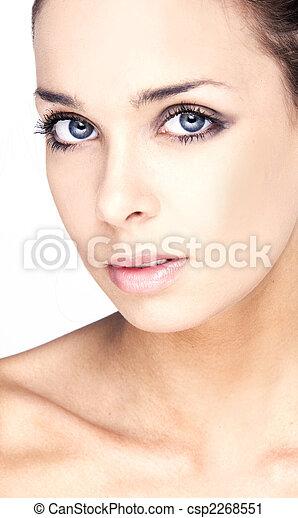 skóra, kobieta, zdrowie, twarz - csp2268551