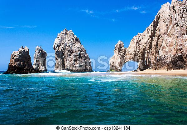 skała, wskazówka, formacja, lucas, san, meksyk, cabo, peninsula., del, baja, arco. - csp13241184