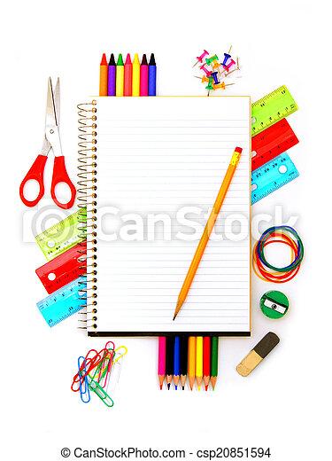 skaffar, skola, anteckningsbok - csp20851594