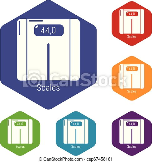 skalpy, hexahedron, wektor, ikony - csp67458161