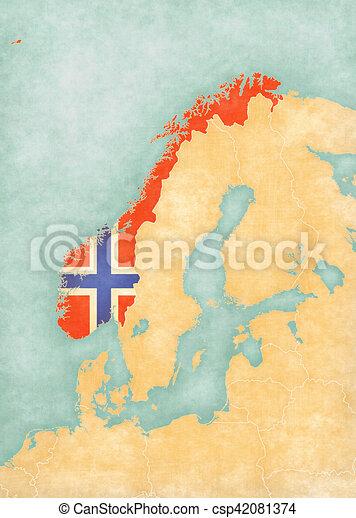 Karte Skandinavien.Skandinavien Landkarte Norwegen