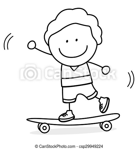 Skate board boy - csp29949224
