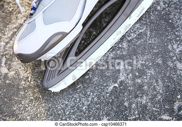 skate ice skates outdoors winter - csp10466371