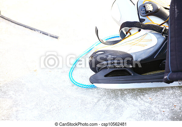 skate ice skates outdoors winter - csp10562481