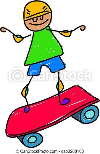 skateboard , παιδί  - csp0288168