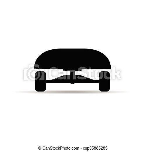Couleur Skateboard Noir Illustration