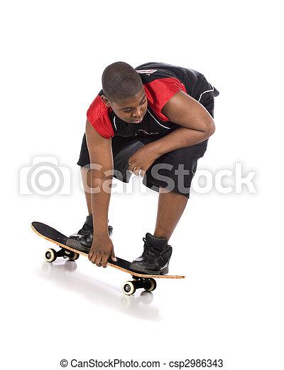 Skateboarding Low - csp2986343
