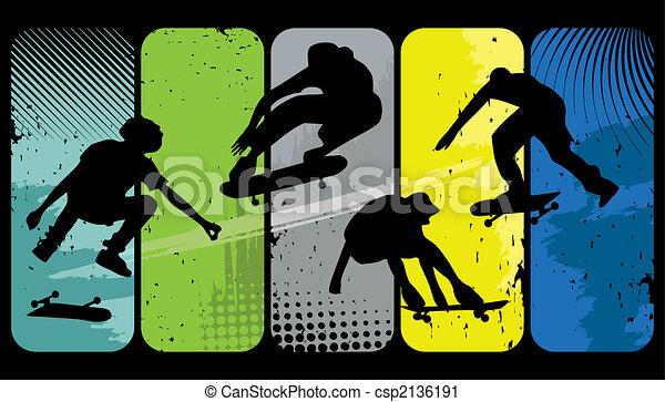 Skaters - csp2136191