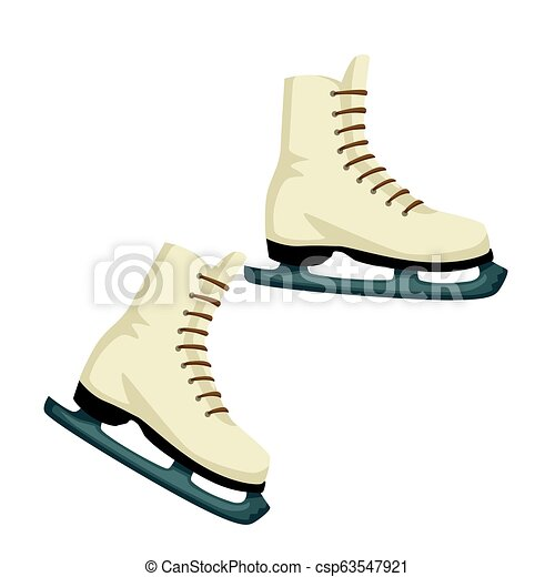 9057158b834ea Skates of leather, footwear for skating with blade on sole