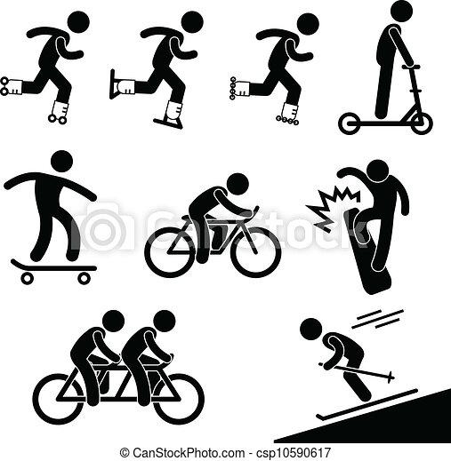 Skating and Riding Activity - csp10590617