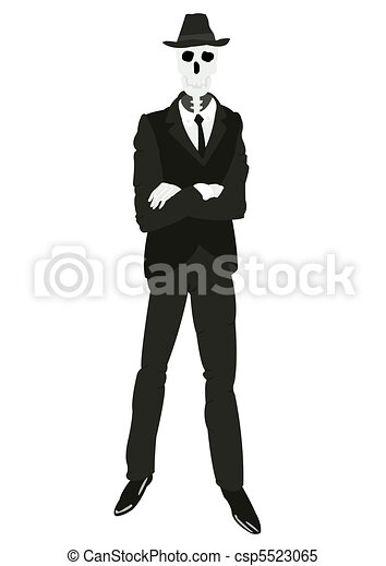 Skeleton of the person in suit. Skeleton men in suit and ...