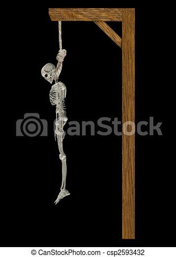 skelett, hängender  - csp2593432