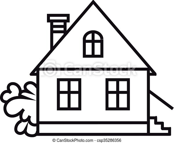sket one house house dwelling symbol simple house icon rh canstockphoto com house icon vector ai house icon vector white