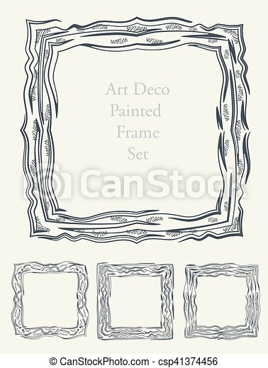 Sketch Art frame decorative - csp41374456
