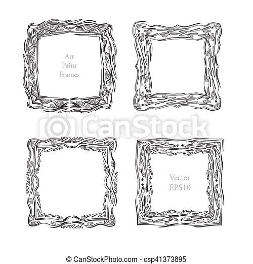 Sketch Art frame decorative - csp41373895