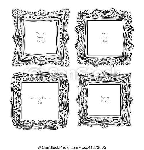Sketch Art frame decorative - csp41373805