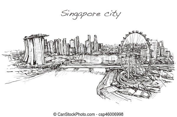 how to draw la skyline