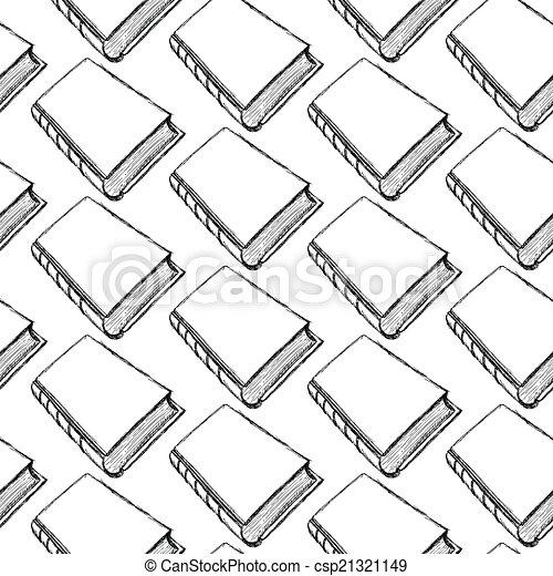 sketch cute book seamless pattern - csp21321149
