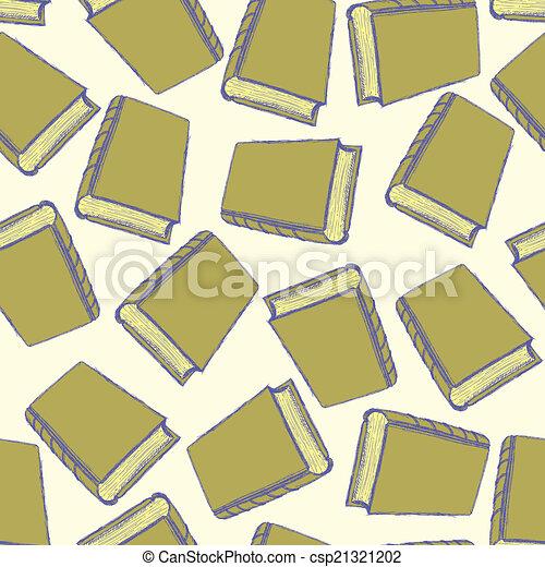 sketch cute book seamless pattern - csp21321202