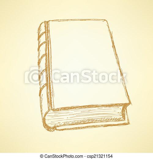 Sketch cute closed book - csp21321154