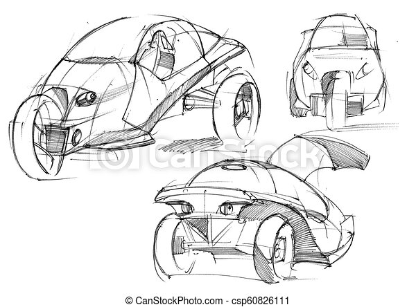 sketch design is an exclusive pact electric car project for the Electric Motor Presentation sketch design is an exclusive pact electric car project for the city illustration executed by hand on paper with watercolor and pen