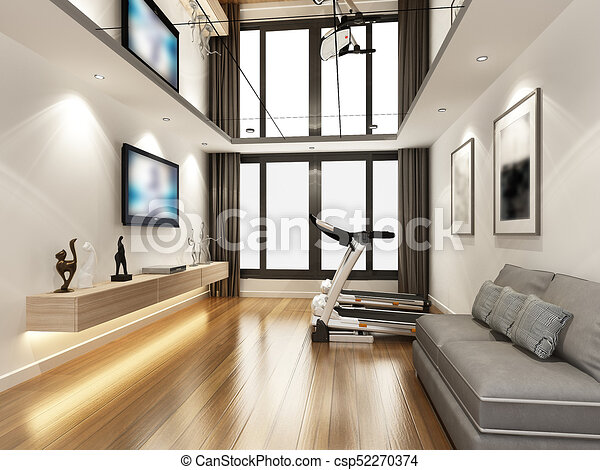 Awesome Sketch Design Of Living Room ,3d Rendering   Csp52270374