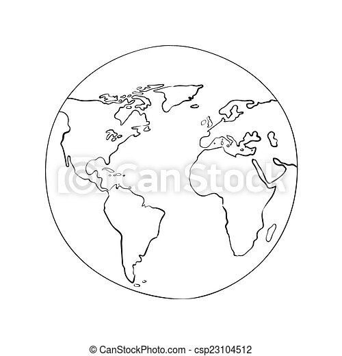 Sketch globe world map black vector illustration sketch vector sketch globe world map black vector illustration gumiabroncs Gallery