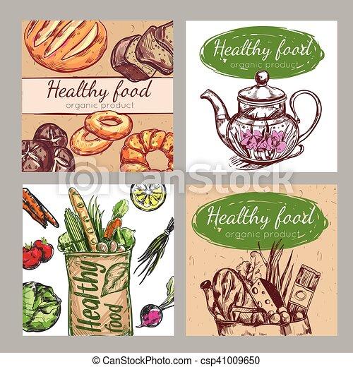 Sketch Healthy Food Icon Set - csp41009650