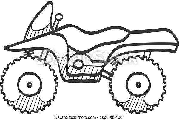 Sketch icon - All terrain vehicle - csp60854081